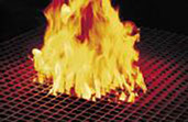 Pultrac moulded grating - fire resistant